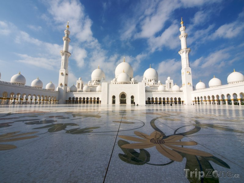 Fotka, Foto Abu Dhabi, mešita Sheikh Zayed (Spojené arabské emiráty)