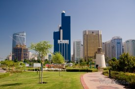Abu Dhabi, mrakodrapy ve městě