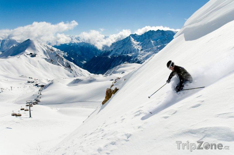 Fotka, Foto Alpy, lyžař (Rakouské Alpy, Rakousko)