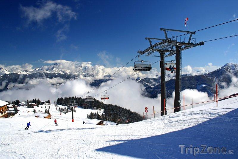 Fotka, Foto Alpy, lyžařský vlek (Rakouské Alpy, Rakousko)