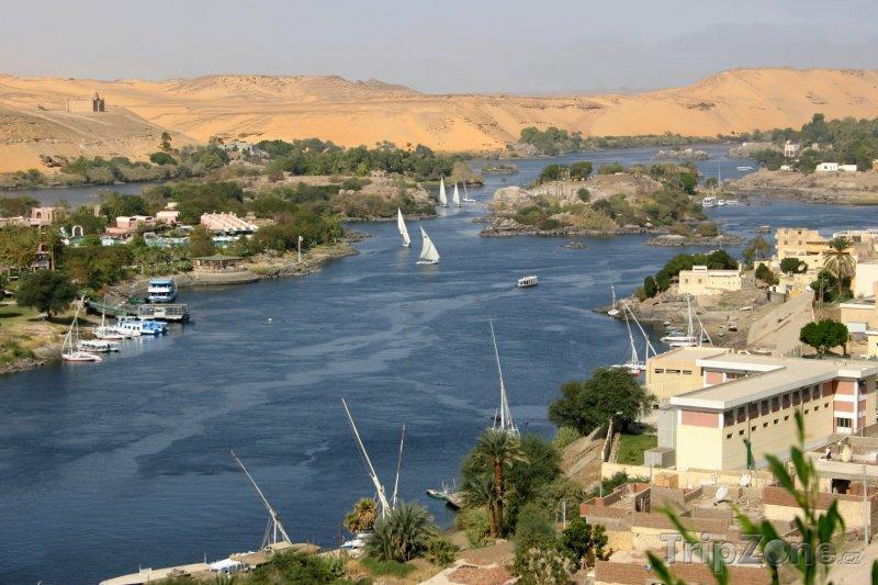 Fotka, Foto Asuán, pohled na Nil (Egypt)