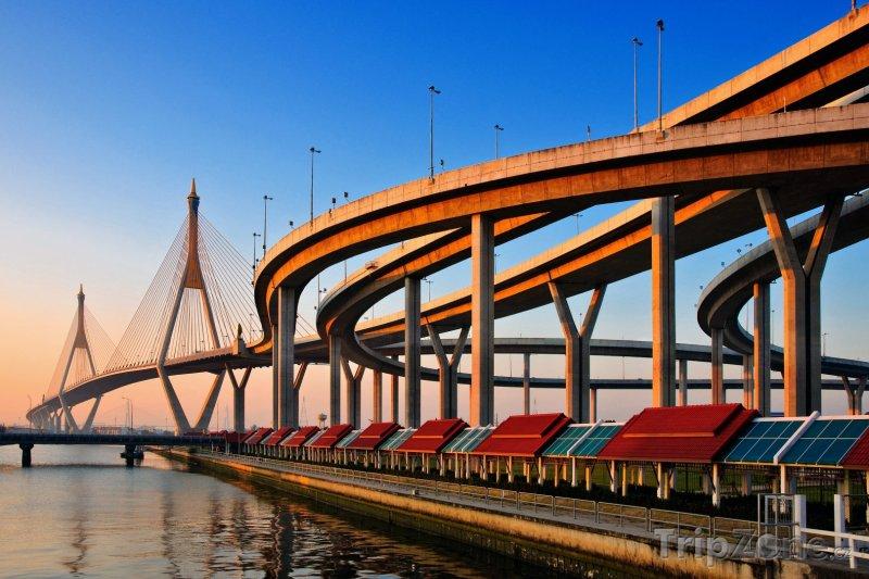 Fotka, Foto Bangkok, Bhumibol Bridge (Thajsko)
