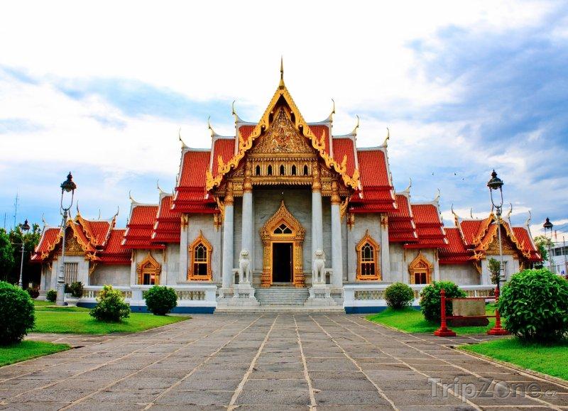 Fotka, Foto Bangkok, chrám Wat Benchamabophit (Thajsko)