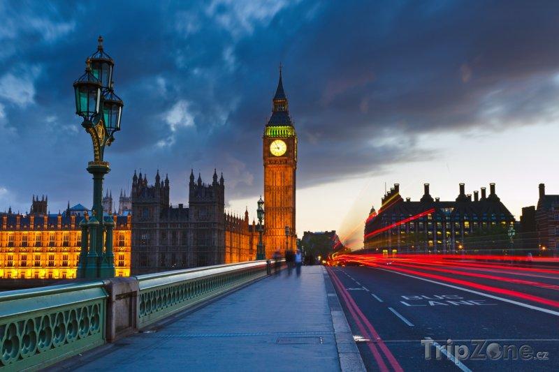 Fotka, Foto Big Ben v noci (Londýn, Velká Británie)