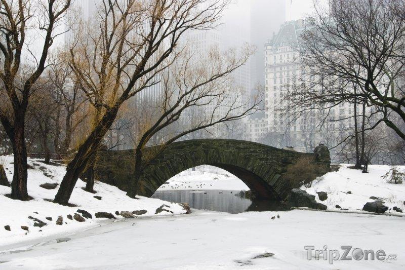 Fotka, Foto Central Park, Gapstow Bridge v zimě (New York, USA)