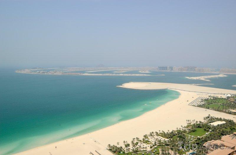 Fotka, Foto Dubaj, pohled z dálky na Palm Jumeirah (Spojené arabské emiráty)