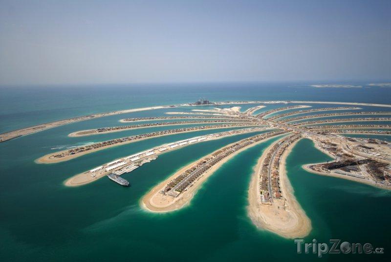 Fotka, Foto Dubaj, umělé souostroví Palm Jumeirah (Spojené arabské emiráty)