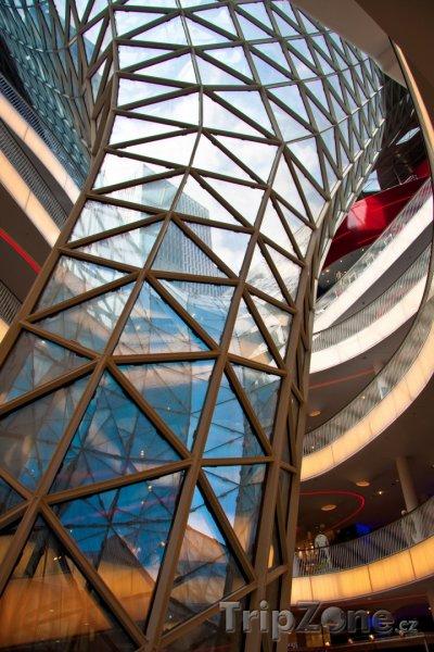 Fotka, Foto Futuristické nákupní centrum ve Frankfurtu (Frankfurt, Německo)