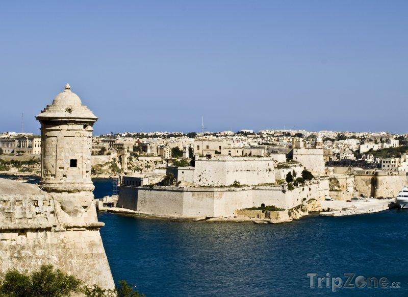 Fotka, Foto Grand Harbour, opevnění (Malta)