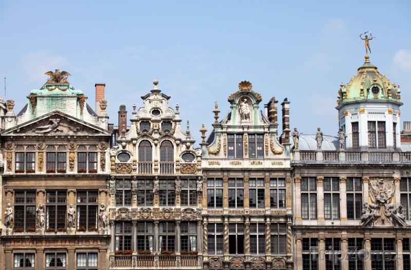 Fotka, Foto Grand Place, budovy (Brusel, Belgie)