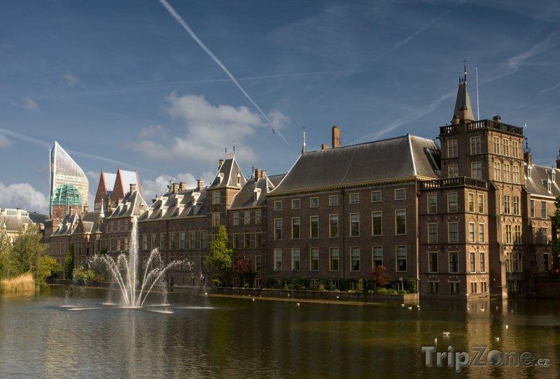 Fotka, Foto Haag, komplex budov Binnenhof - nizozemský parlament (Nizozemsko)