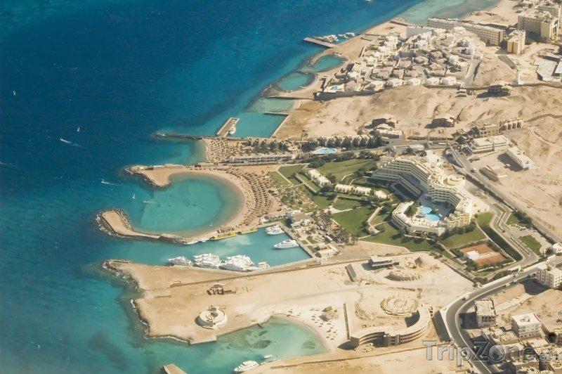 Fotka, Foto Hurghada z výšky (Východní pobřeží, Egypt)