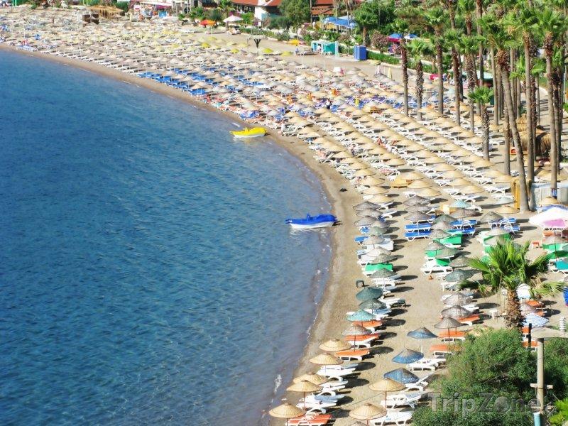 Fotka, Foto Icmeler, pláž (Egejská riviéra, Turecko)