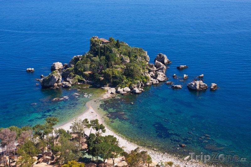 Fotka, Foto Isola Bella poblíž Taorminy (Sicílie, Itálie)
