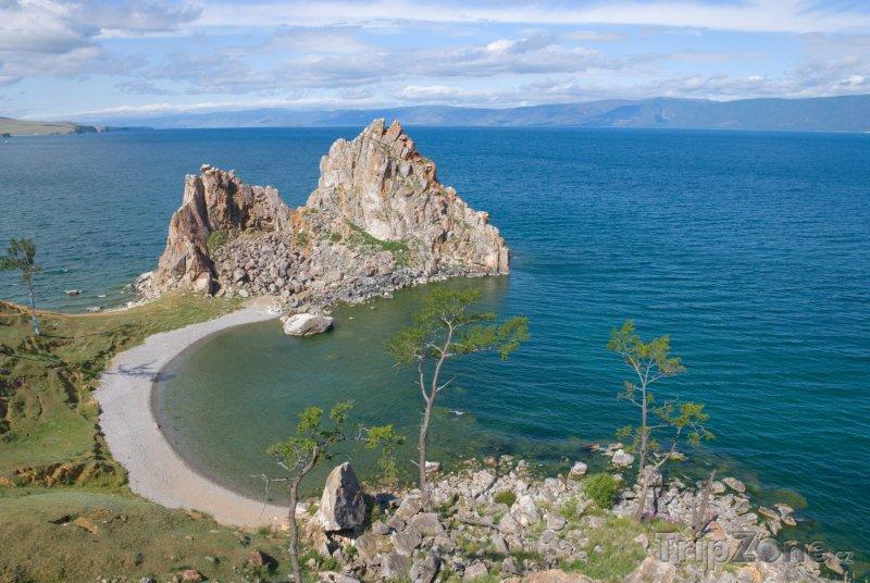 Fotka, Foto Jezero Bajkal, pobřeží ostrova Olchon (Rusko)