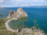 Jezero Bajkal, pobřeží ostrova Olchon