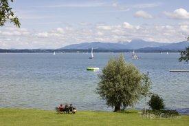 Jezero Chiemsee v Bavorsku