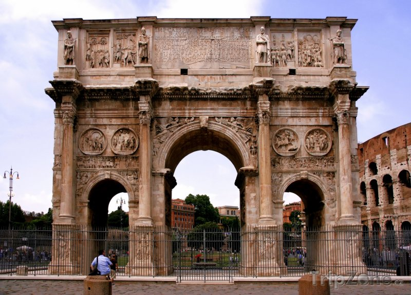 Fotka, Foto Konstantinův oblouk (Arco di Costantino) (Řím, Itálie)