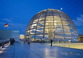 Kopule budovy Říšského sněmu v Berlíně