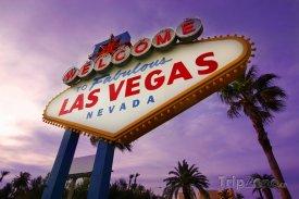 Las Vegas, cedule vítající turisty ve městě