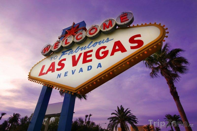 Fotka, Foto Las Vegas, cedule vítající turisty ve městě (USA)