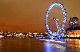 London Eye v noci