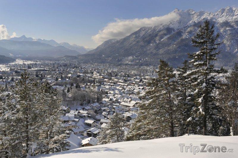 Fotka, Foto Lyžařské středisko Garmisch-Partenkirchen v Bavorsku (Bavorsko, Německo)
