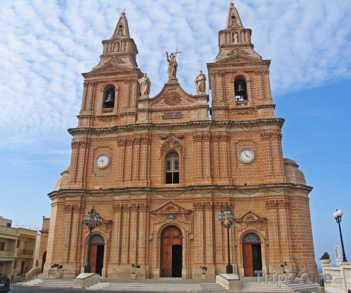 Fotka, Foto Mellieha, chrám Panny Marie (Malta)