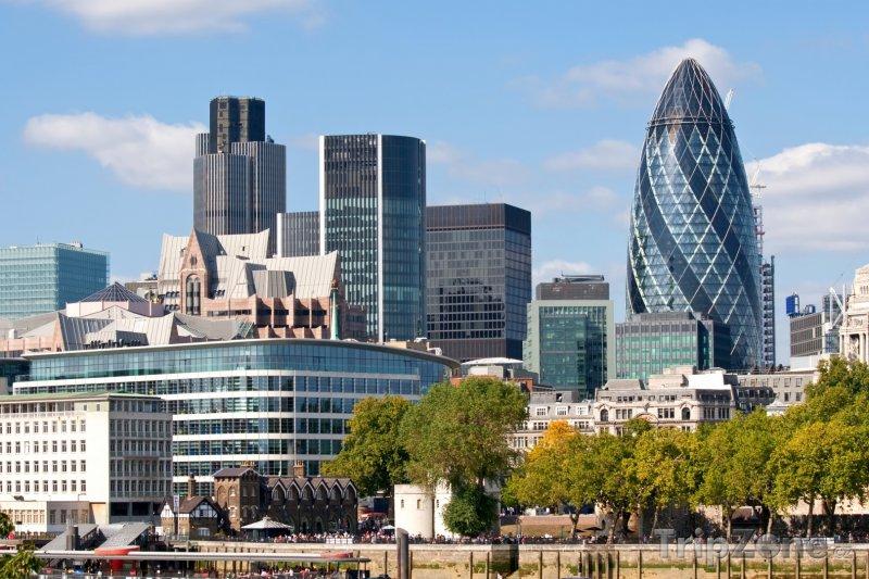 Fotka, Foto Moderní stavby podél Temže (Londýn, Velká Británie)