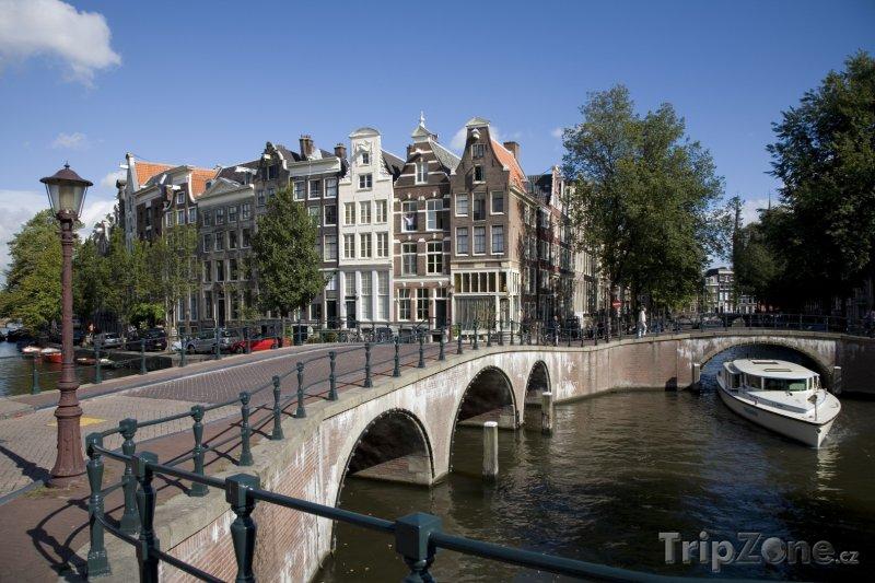 Fotka, Foto Most přes kanál Keizersgracht (Amsterdam, Nizozemsko)