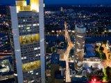 Mrakodrapy Evropské centrální banky a Commerzbank Tower ve Frank