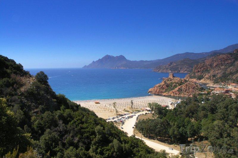 Fotka, Foto Nádherná pláž na Korsice (Korsika, Francie)