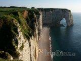 Normandie, útesy v Étretat