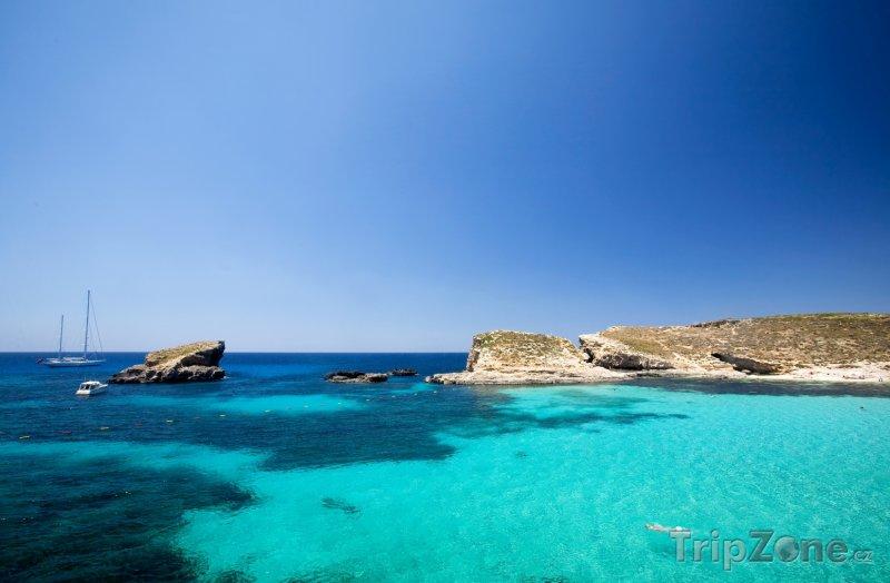 Fotka, Foto Ostrov Comino, Modrá laguna (Malta)