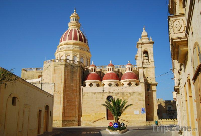 Fotka, Foto Ostrov Gozo, katedrála ve městě Victoria (Malta)