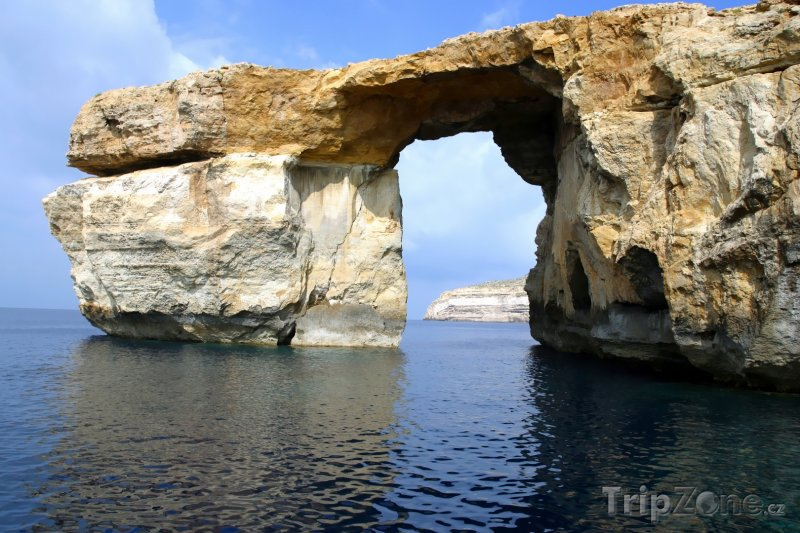 Fotka, Foto Ostrov Gozo, skaliska Azurové okno (Malta)