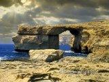 Ostrov Gozo, skalní útvar Azurové okno