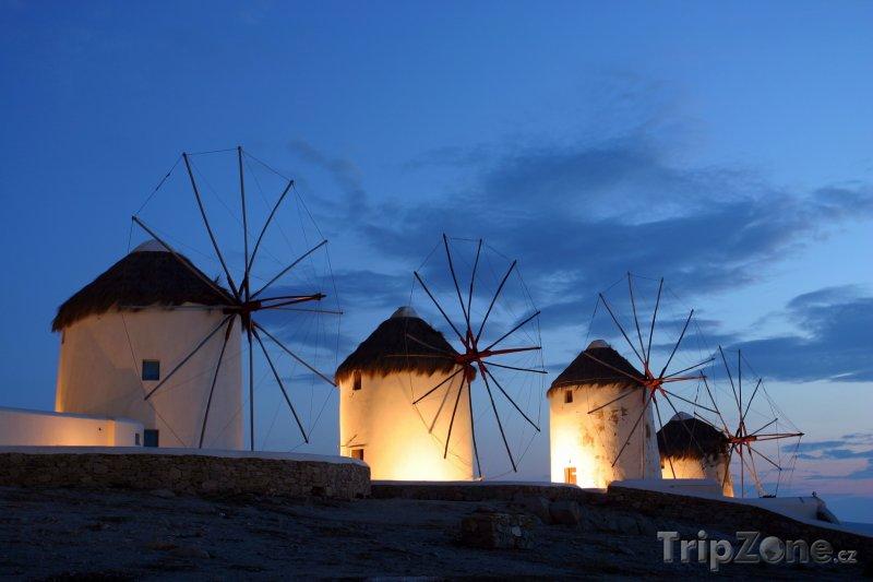 Fotka, Foto Ostrov Mykonos, větrné mlýny (Řecko)