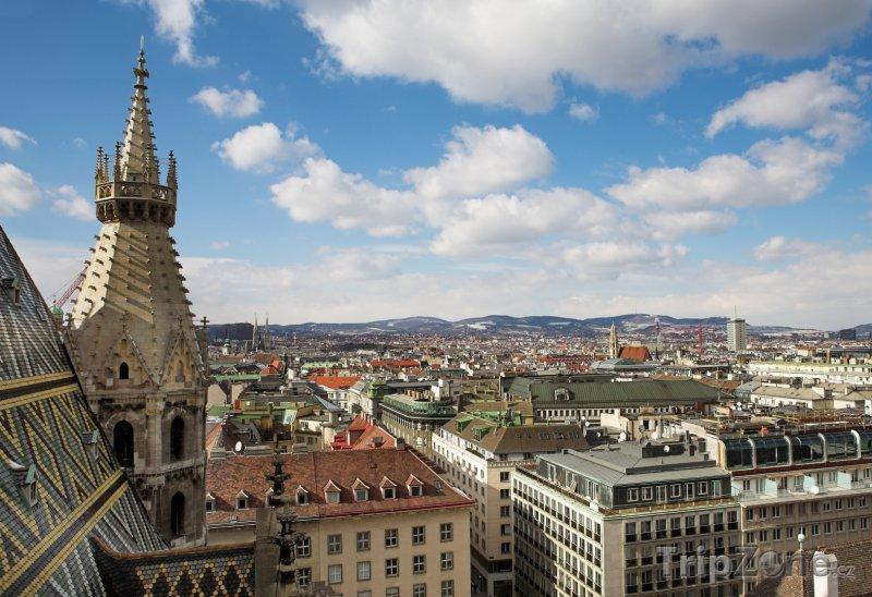 Fotka, Foto Panoráma města z věže katedrály (Vídeň, Rakousko)