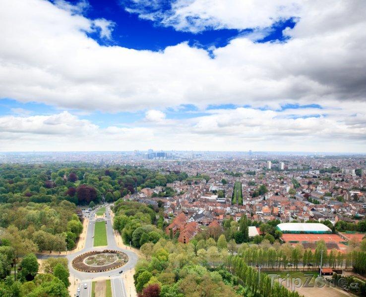 Fotka, Foto Panoráma města z vrcholu Atomia (Brusel, Belgie)