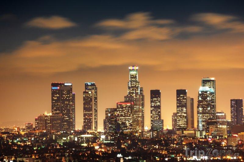 Fotka, Foto Panoráma v noci (Los Angeles, USA)