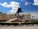 Petrohrad, bronzová socha Petra Velikého