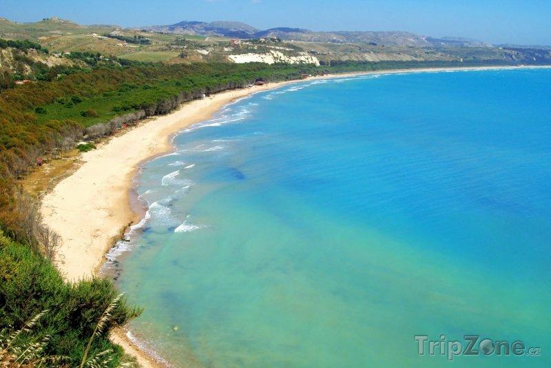Fotka, Foto Pláž poblíž Cattolica Eraclea (Sicílie, Itálie)