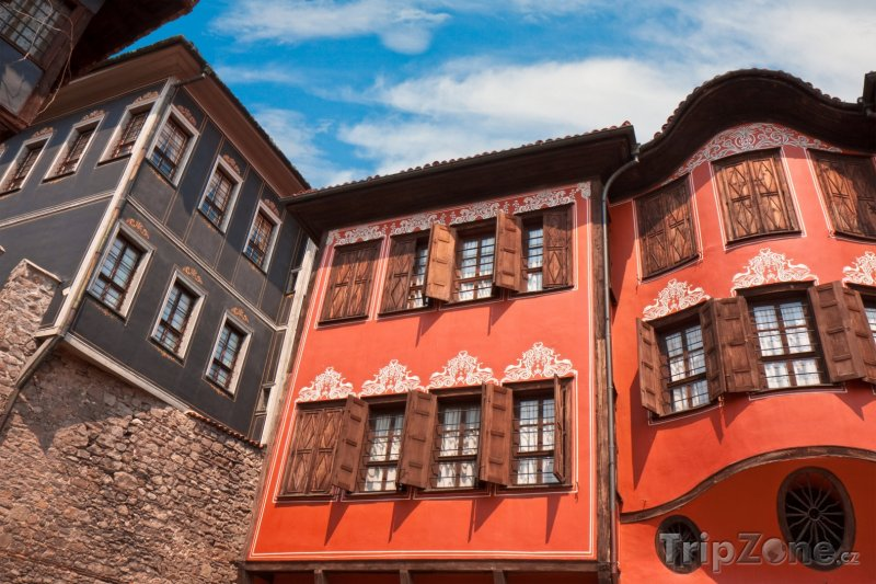 Fotka, Foto Plovdiv, tradiční domy ve starém městě (Bulharsko)