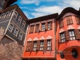 Plovdiv, tradiční domy ve starém městě