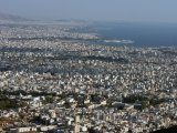 Pohled na Athény a Pireus