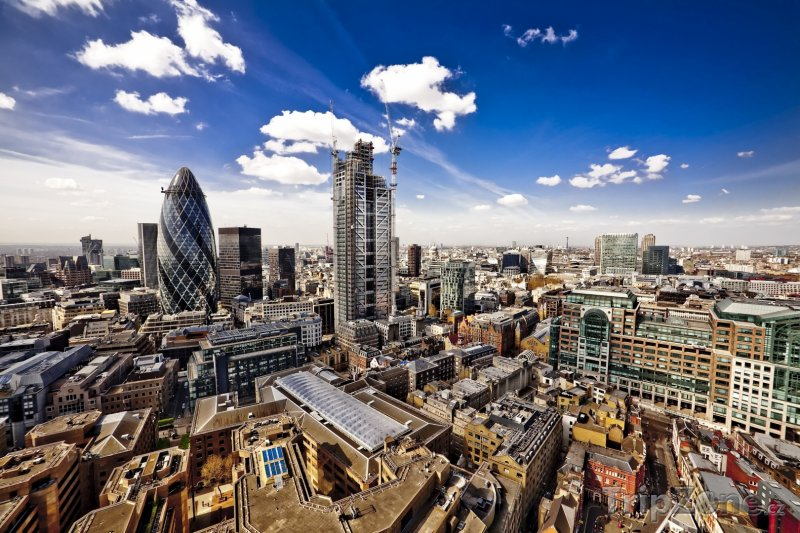 Fotka, Foto Pohled na City of London (Londýn, Velká Británie)