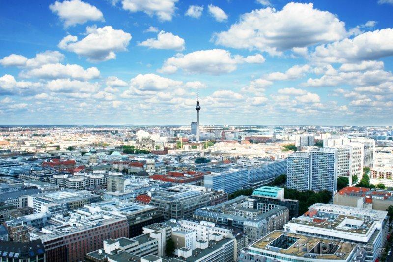 Fotka, Foto Pohled na město Berlín (Berlín, Německo)
