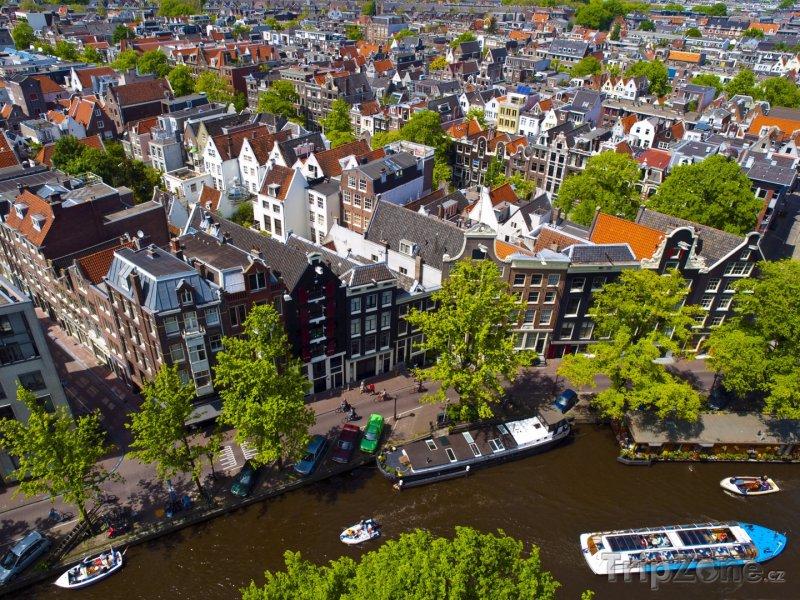 Fotka, Foto Pohled na město z výšky (Amsterdam, Nizozemsko)