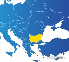 Poloha Bulharska na mapě Evropy